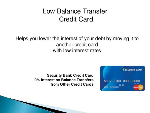 Credit facilities and support services