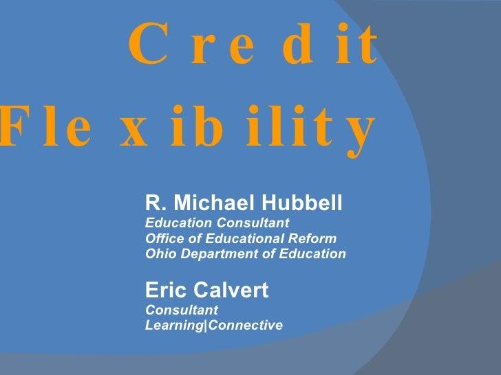 Credit Flex for the Mid Ohio ESC