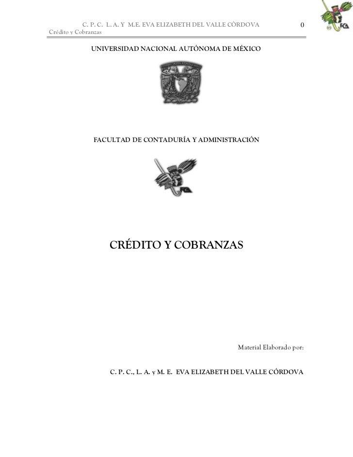 C. P. C. L. A. Y M.E. EVA ELIZABETH DEL VALLE CÒRDOVA              0Crédito y Cobranzas             UNIVERSIDAD NACIONAL A...
