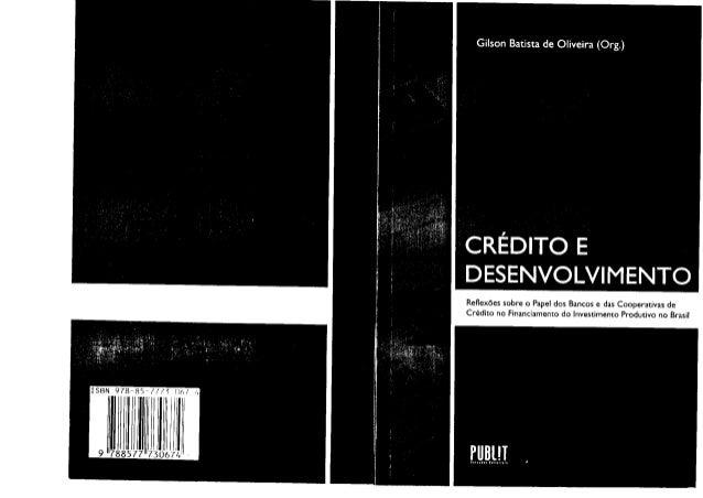 ReÍÌexõessobre o Papeldos Bancose dasCooperativas de Crédito no Financiamentodo lnyestimentoprodutivo no Brasil Ì sBN 978-...