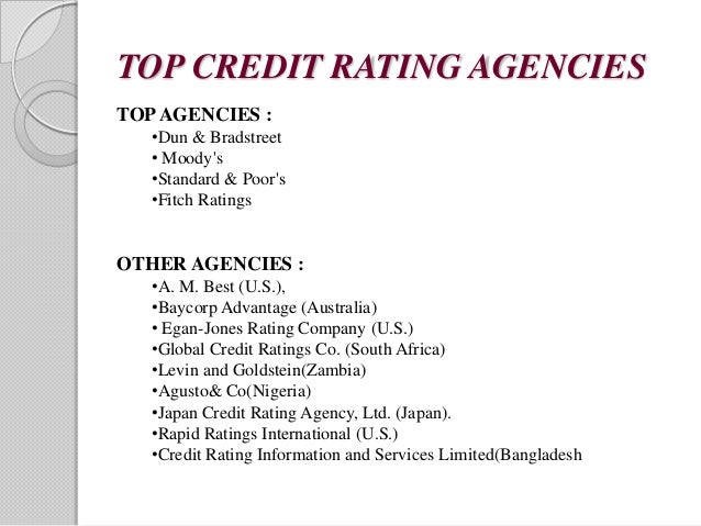 credit rating research paper The credit rating agencies in india, a separate research report was prepared by the national institute of 46 limitations of credit ratings 21.