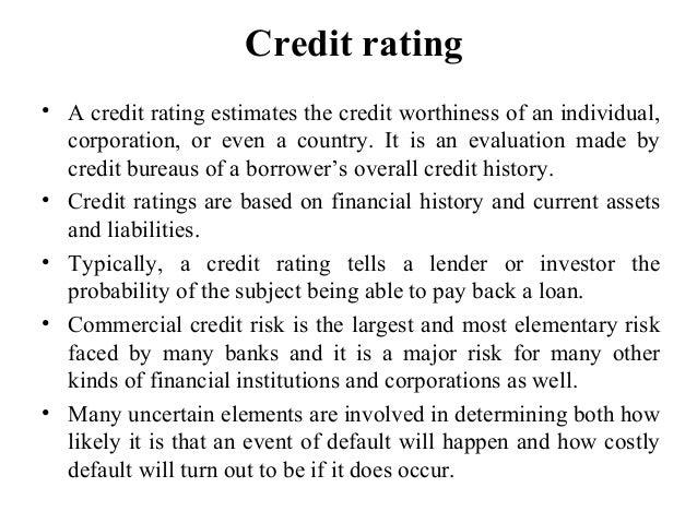 Credit rating ppt Slide 2