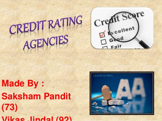 thesis about rating agencies On july 18th, 2007, while referring to adjustable rate mortgages.