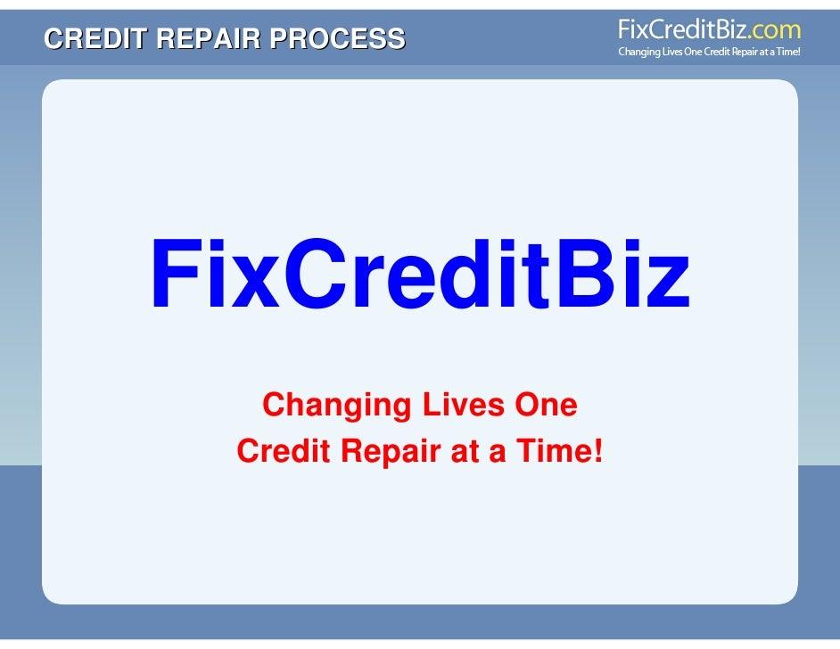 Credit Repair Presentation