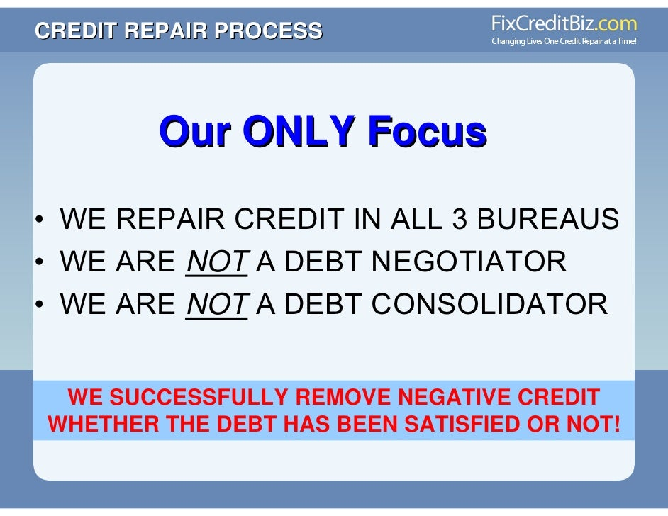 Credit Repair Presentation