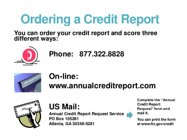 Credit Report Order Form