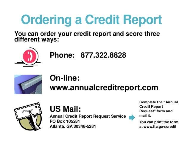 15. Ordering A Credit Report ...