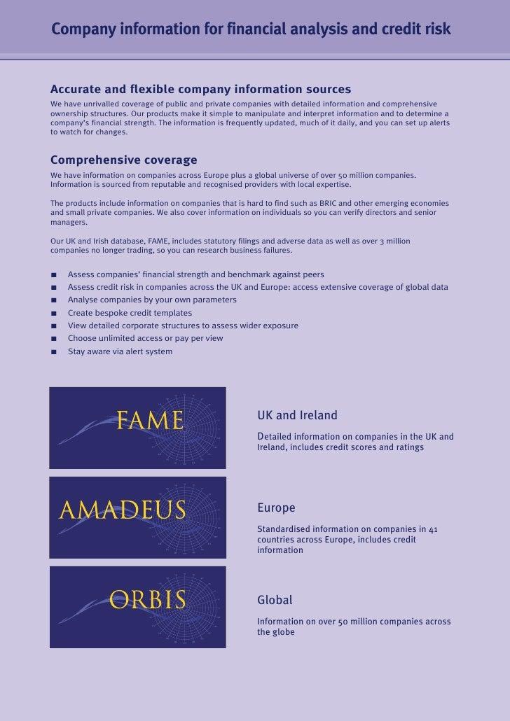 BvDEP & Credit Management  Slide 2