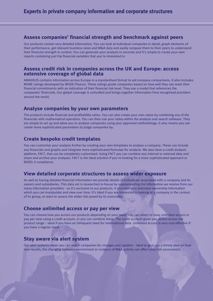BvDEP & Credit Management  Slide 3