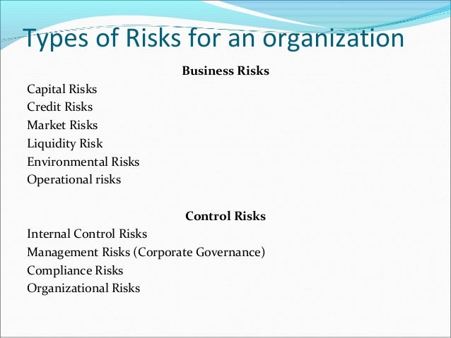 management of risk in an organisation Organization's financial reporting and disclosure this increased focus on risk can turn risk  offered by successful risk management initiatives.