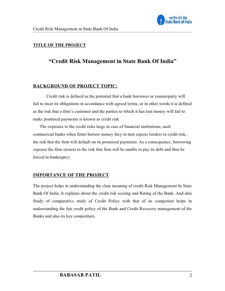 credit management in commercial banks in india Department of management, tu, thakur ram multiple campus, birgunj,  this  study examines the effect of alm on commercial banks' profitability in  to credit,  interest rate, and liquidity risks  in indian banking industry - with special.
