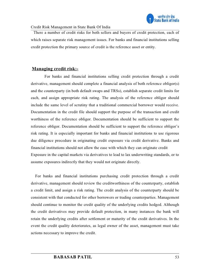 mba thesis on credit risk management Credit risk dissertation writing service to help in custom writing a university credit risk doctoral thesis, mba data management, and.