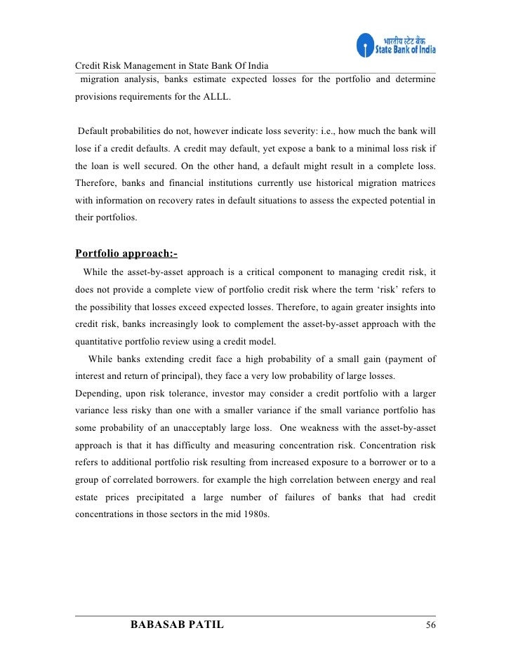 risk management at banks project report View 52829130-risk-management from mgt 3004 at 서강대학교 summer project report on risk management in urban co-operative banks for reserve bank of india, mumbai submitted to prof.