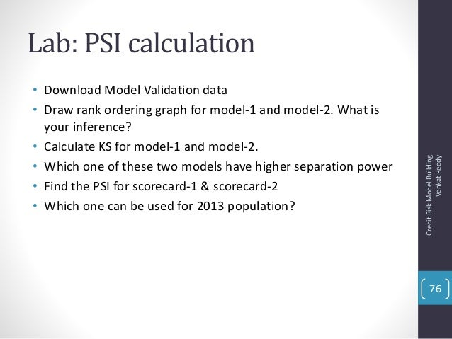 credit risk model validation pdf free