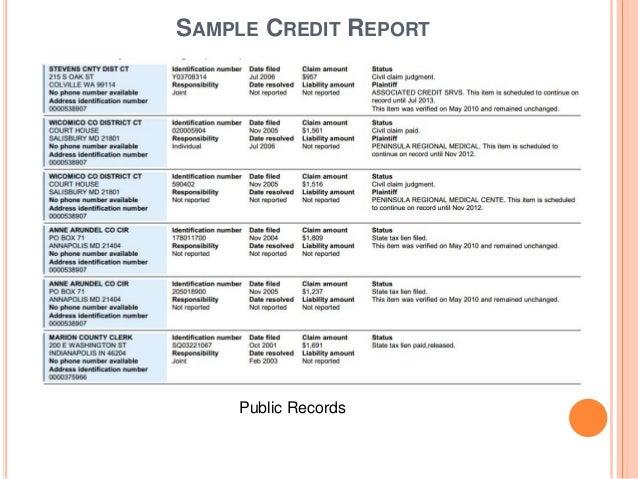 Understanding Credit  Credit Reports