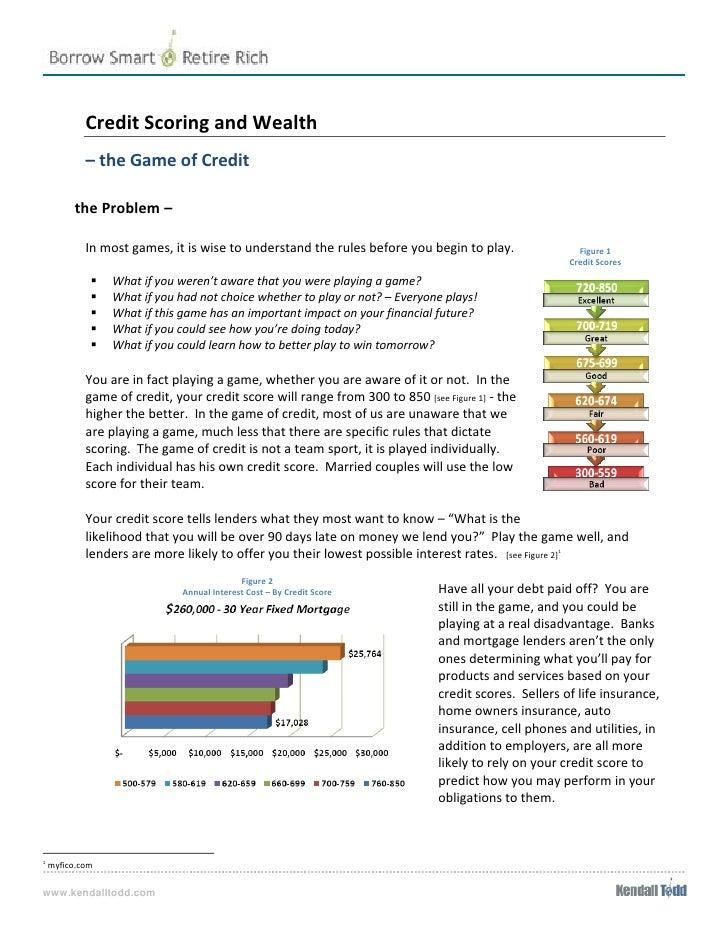 CreditScoringandWealth                     –theGameofCredit         theProblem–                 ...
