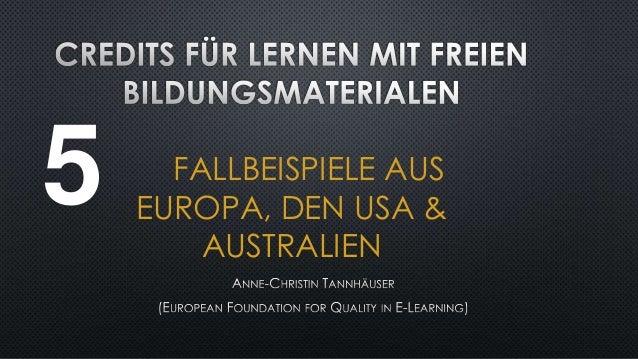 5  FALLBEISPIELE AUS EUROPA, DEN USA & AUSTRALIEN