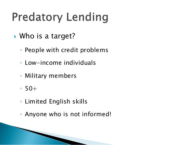 Predatory Lending and Debt Traps