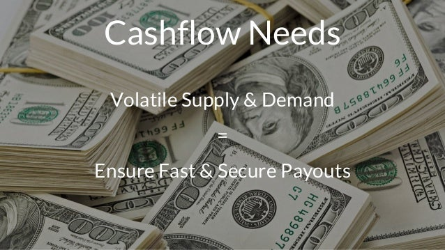 Cashflow Needs Volatile Supply & Demand = Ensure Fast & Secure Payouts