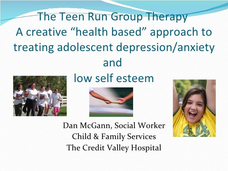 """The Teen Run Group Therapy  A creative """"health based"""" approach to treating adolescent depression/anxiety and  low self est..."""