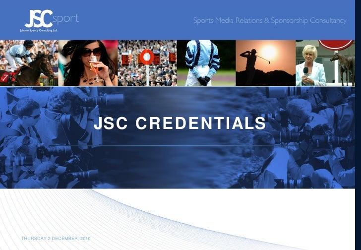 JSC CREDENTIALS THURSDAY 2 DECEMBER, 2010