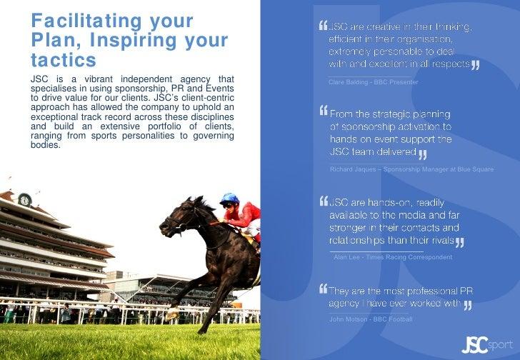 JSC Sport: Specialist Sports Sponsorship & PR Agency Slide 2