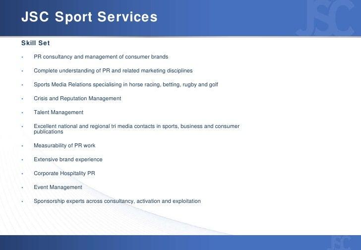 JSC Sport: Specialist Sports Sponsorship & PR Agency Slide 3
