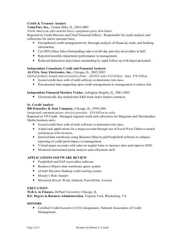Creech r resume 101710