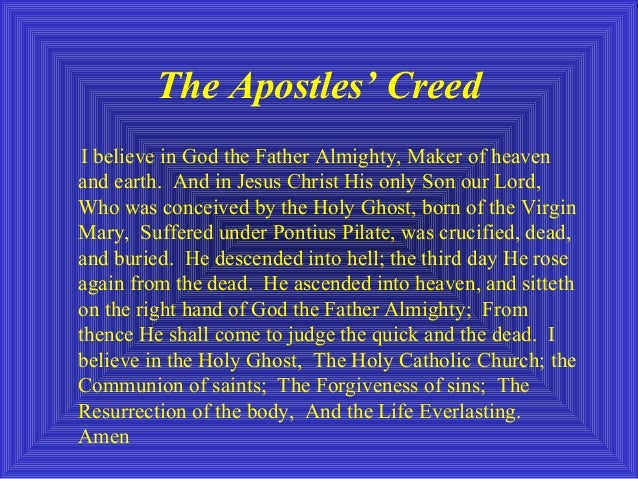 A Study of The Apostles' Creed