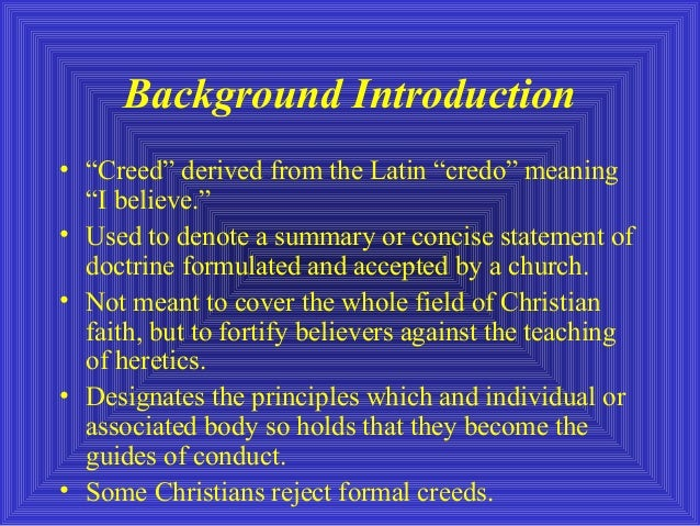 christian theology a study of the apostles creed This lesson looks at the apostles' creed as a summary of the articles or  and we  face a similar question when we approach the study of christian theology.