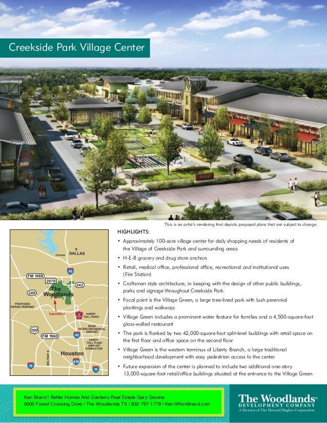 Creekside Park Village Center                                                                This is an artist's rendering...