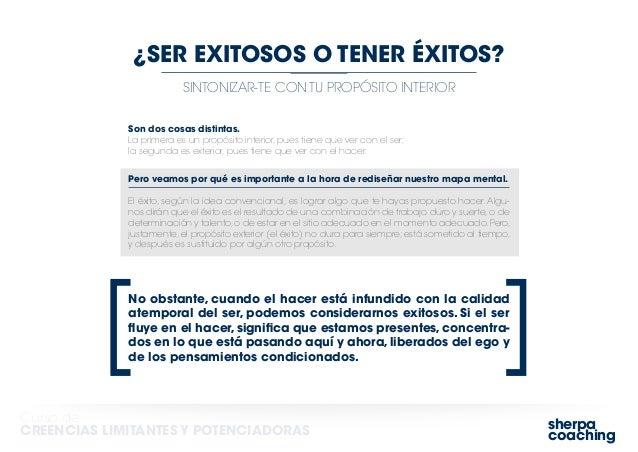 sherpa coaching Curso de CREENCIAS LIMITANTES Y POTENCIADORAS SINTONIZAR-TE CON TU PROPÓSITO INTERIOR ¿SER EXITOSOS O TENE...