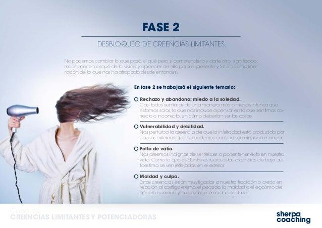 sherpa coaching Curso de CREENCIAS LIMITANTES Y POTENCIADORAS DESBLOQUEO DE CREENCIAS LIMITANTES FASE 2 No podemos cambiar...