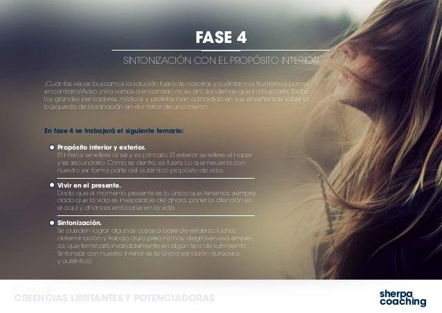 sherpa coaching Curso de CREENCIAS LIMITANTES Y POTENCIADORAS SINTONIZACIÓN CON EL PROPÓSITO INTERIOR FASE 4 Propósito int...