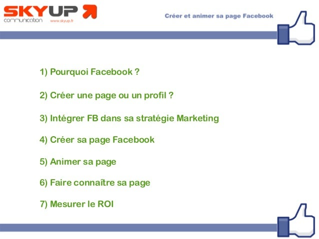 Creer Et Animer Sa Page Facebook