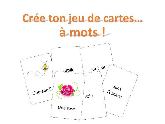 Crée ton jeu de cartes… à mots !