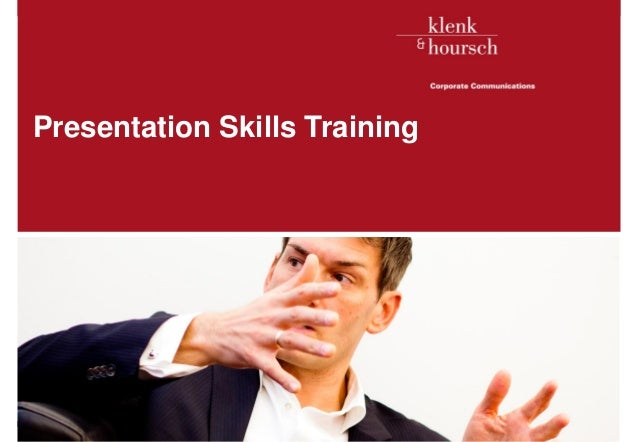 Presentation Skills TrainingKlenk & Hoursch                   1