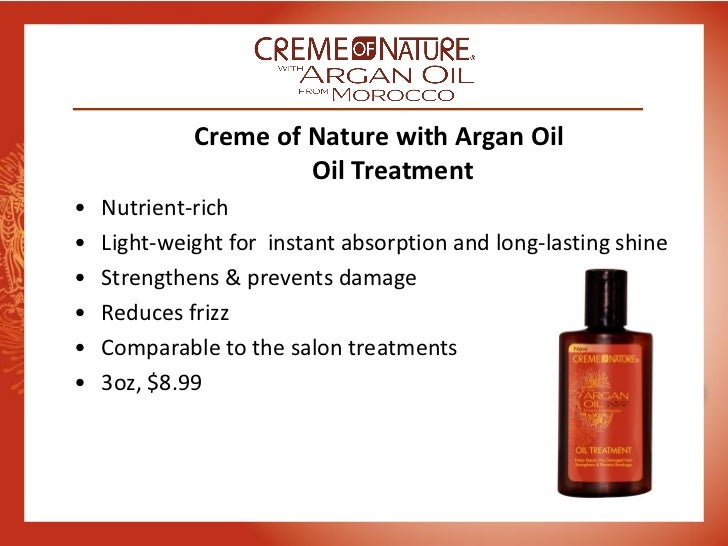 Creme Of Nature Argan Oil Sulfate Free Shampoo Ingredients