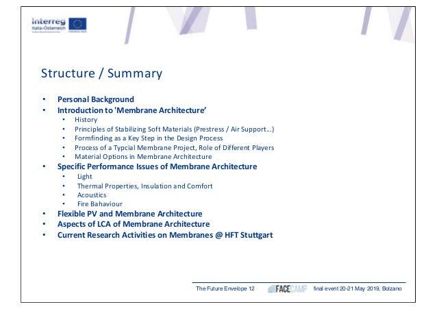"Jan Cremers, Hochschule für Technik Stuttgart (DE) ""Designing Complex Membrane Building Envelopes"" Slide 3"