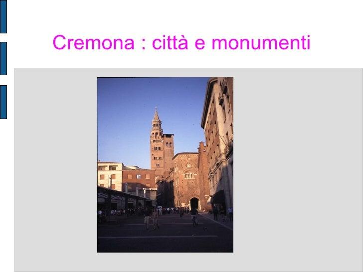 Cremona : città e monumenti