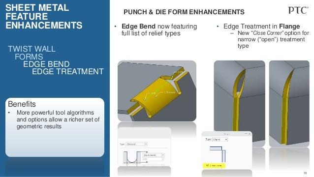 Creo 4 0 Sheetmetal Enhancements