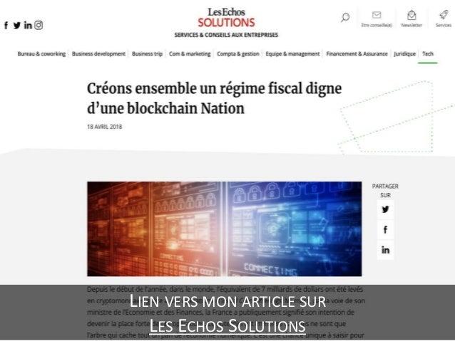 Créons ensemble un régime fiscal digne d'une blockchain Nation Slide 3