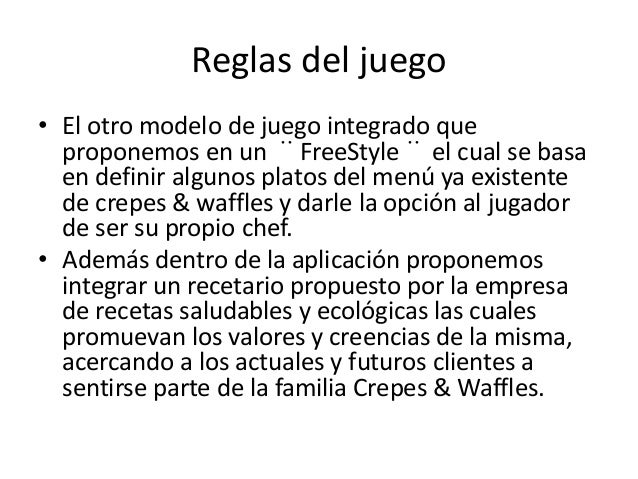 Reglas del juego  • El otro modelo de juego integrado que  proponemos en un ¨FreeStyle¨el cual se basa  en definir algunos...