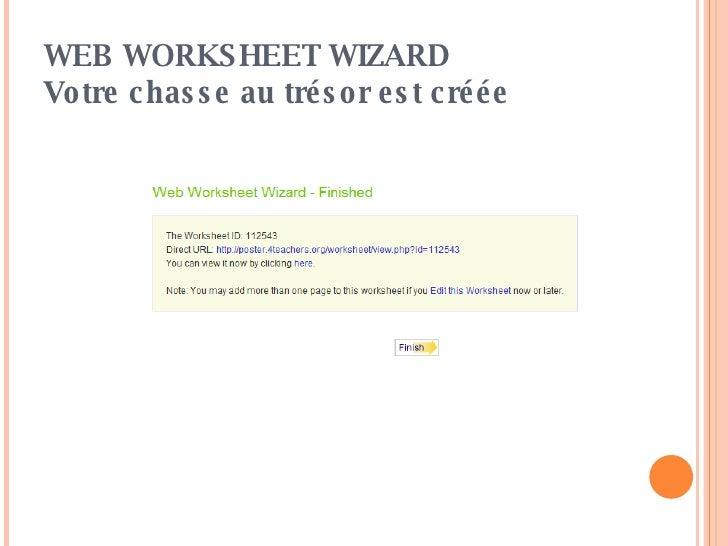 Cr er une chasse au tr sor avec web worksheet wizard - Ouvrir une chasse d eau ...
