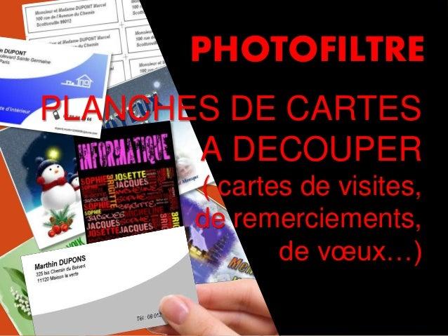 1 PLANCHES DE CARTES A DECOUPER Cartes De Visites Remerciements