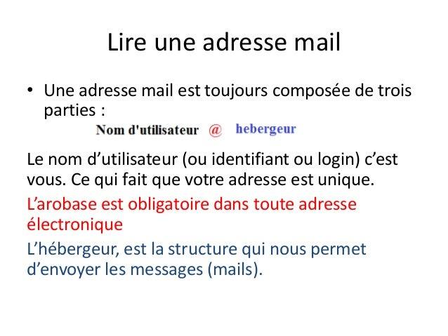 cr u00e9er une adresse mail