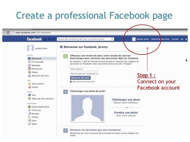 Creer Une Page Facebook Pro En Anglais