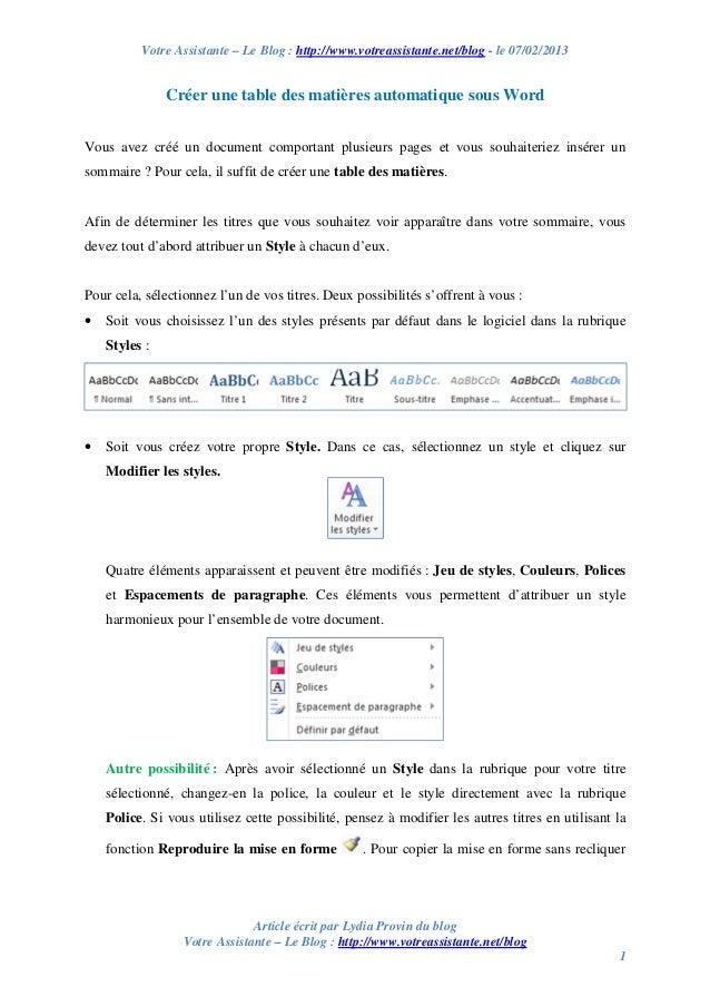 Votre Assistante – Le Blog : http://www.votreassistante.net/blog - le 07/02/2013 Article écrit par Lydia Provin du blog Vo...