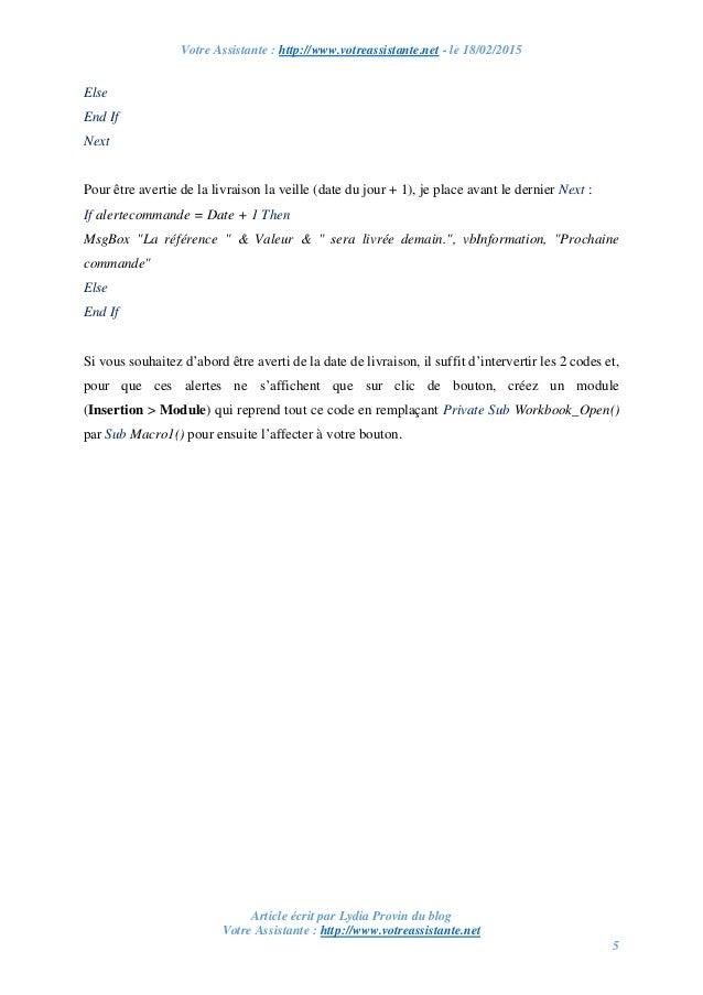 Votre Assistante : http://www.votreassistante.net - le 18/02/2015 Article écrit par Lydia Provin du blog Votre Assistante ...