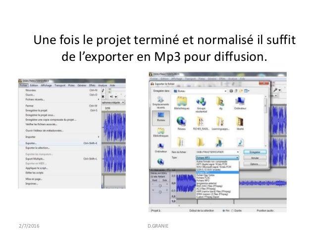 Cr er un podcast avec audacity d granie - Couper une musique mp3 en ligne ...